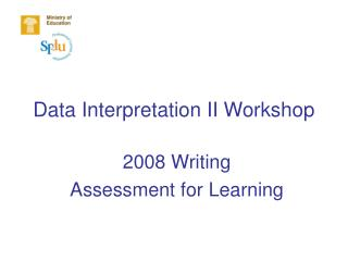 Data Interpretation II Workshop
