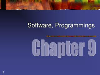 Software, Programmings