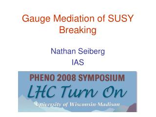 Gauge Mediation of SUSY Breaking
