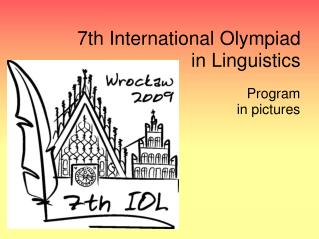 7th International Olympiad in Linguistics