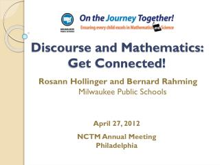 Discourse and Mathematics:   Get Connected!