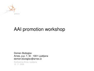 AAI promotion workshop