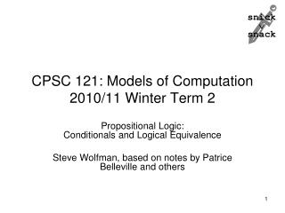 CPSC 121: Models of Computation 2010/11 Winter Term 2