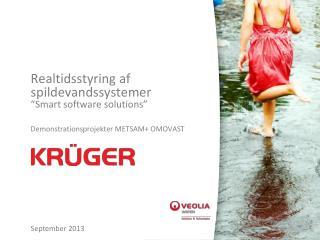 """Realtidsstyring af spildevandssystemer """"Smart software solutions"""""""