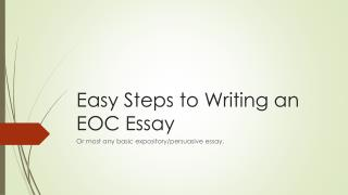 Easy Steps to Writing an EOC Essay