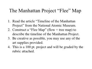 "The Manhattan Project ""Flee"" Map"
