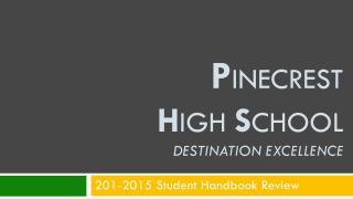201-2015 Student Handbook Review