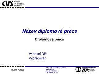 Název diplomové práce