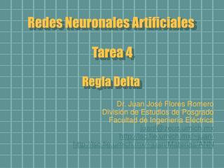 Redes Neuronales Artificiales  Tarea 4 Regla Delta