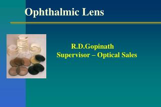 Ophthalmic Lens