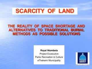 SCARCITY  OF  LAND