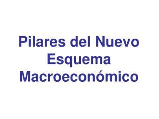 Pilares del Nuevo Esquema Macroeconómico