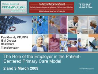 The Role of the Employer in the Patient-Centered Primary Care Model
