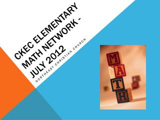 CKEC elementary Math Network - July 2012