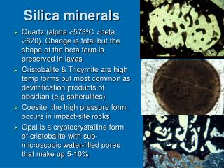 Silica minerals