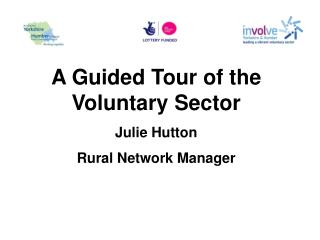 A Guided Tour of the Voluntary Sector Julie Hutton Rural Network Manager