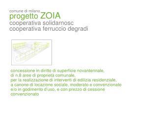 comune di milano progetto  ZOIA cooperativa solidarnosc cooperativa ferruccio degradi