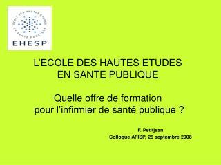 F. Petitjean Colloque AFISP, 25 septembre 2008
