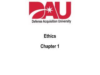 Ethics Chapter 1