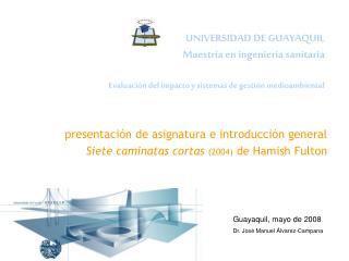 presentación de asignatura e introducción general Siete caminatas cortas (2004)  de Hamish Fulton