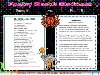 Poetry March Madness