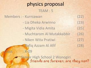physics proposal