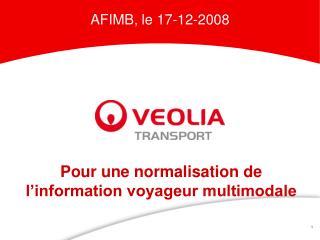 Pour une normalisation de l'information voyageur multimodale