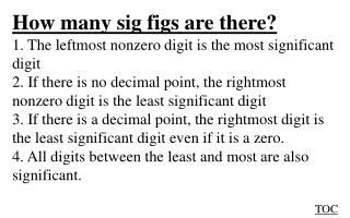 How many sig figs are there?