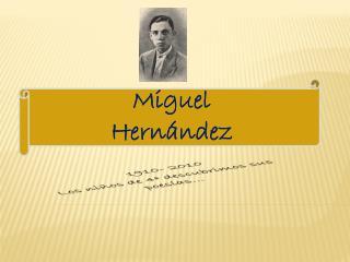 1910- 2010 Los niños de 4º descubrimos sus poesías…