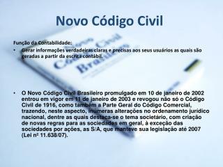 Novo Código Civil