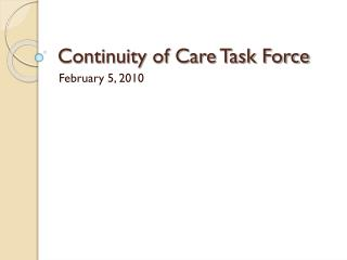 Continuity of Care Task Force