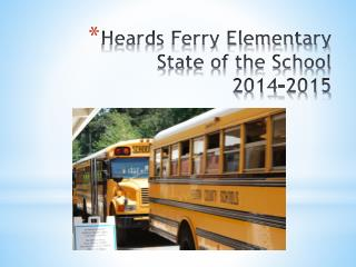 Heards Ferry Elementary State of the School  2014-2015