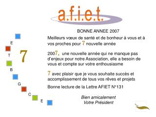 BONNE ANNEE 2007