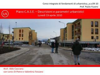 Corso integrato di fondamenti di urbanistica_a.a.09-10 Prof. Paolo Fusero