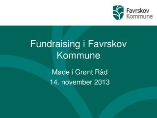 Fundraising i Favrskov Kommune