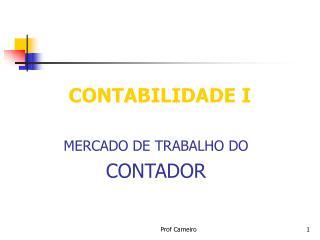 CONTABILIDADE I