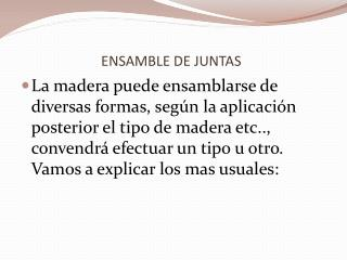 ENSAMBLE DE JUNTAS