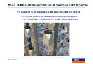 MULTITENS-sistema automatico di controllo della tensione