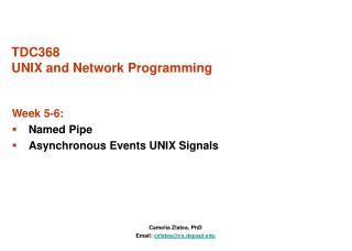 TDC368 UNIX and Network Programming
