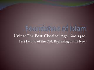 Foundation of Islam
