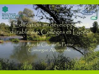 Education au développement durable aux Collèges et Lycées