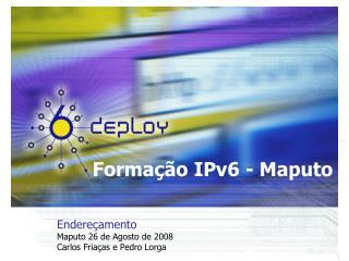 Formação IPv6 - Maputo