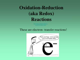 Oxidation-Reduction  (aka Redox) Reactions