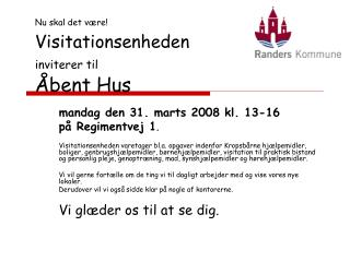 Visitationsenheden inviterer til Åbent Hus