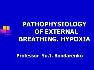 PATHOPHYSIOLOGY    OF EXTERNAL BREATHING. HYPOXIA