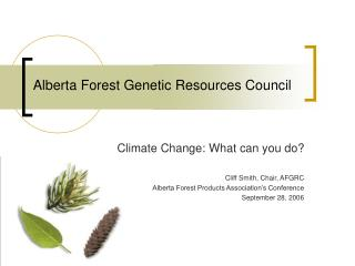 Alberta Forest Genetic Resources Council