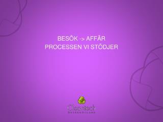 BES�K -> AFF�R Processen  vi  st�djer