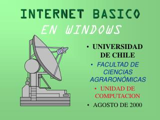 INTERNET BASICO EN WINDOWS