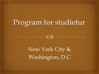 Program for studietur