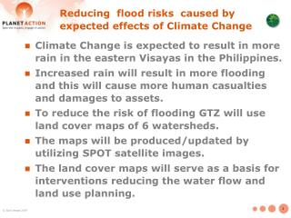 Reducing  flood risks  caused by expected effects of Climate Change